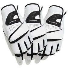 New TaylorMade 2015 Stratus Sport Leather White Golf Gloves 3-Pack - Pick Size