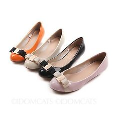 Office Ladies Ribbon Fashion Pumps Bow Ballerinas Summer Shoes Ballet Flats Size