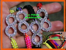 CREATION !1 BRACELET SHAMBALLA  AJUSTABLE BRELOQUE  NOEUD 38MM COLORIS AU CHOIX