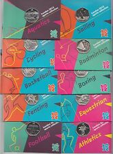 2011 Royal Mint London 2012 Olympic 50p Sports Collection Cards