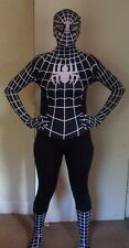 SPIDERMAN Black Venom adulto Halloween Costume-Lycra Pelle Spandex