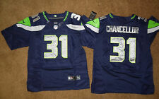 SEATTLE SEAHAWKS #31 KAM CHANCELLOR MENS STITCHED ELITE CUSTOM FOOTBALL JERSEY