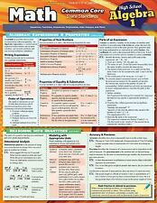 Math Common Core Algebra 1 9Th Grade by Inc. BarCharts (2014, Book, Other)