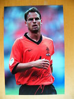 FRANK de BOER GENUINE HAND SIGNED AUTOGRAPH 12X8 PHOTO HOLLAND & PROOF & COA