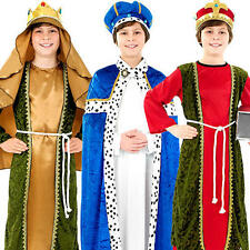 Three Wise Men Kings Boys Fancy Dress Nativity Play Christmas Kids Child Costume
