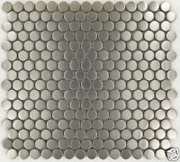 "Stainless Steel Metal Round Tiles Sample 3"" x 3"""
