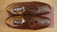 new MEN'S BROWN Synthetic, jierda lace up shoes size 41 UK 7 MODERN DESIGN