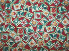 2 Fat Quarters Holiday Blocks 100% Cotton Build Your Christma Stash w/PGD!!