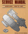 1990 TO 1997 HARLEY-DAVIDSON SIDECAR SERVICE MANUAL -TLE-RLE-TLR-SIDECARS
