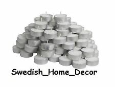 Ikea Unscented Tealights Tea Lights Candles Holiday Wedding LOT 1 - 1000 Party