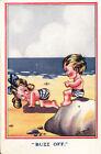 Buzz Clear Off Rocks The Beach Walking Like A Dog Crawl Antique Comic Postcard