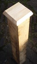 """WOOD FENCE POST CAPPINGS (5""""X5""""X3/4"""") 6 CAPPINGS 5 INCH SQUARE FOR 4INCH POSTS"""