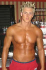 Shirtless Beefcake Muscle Bodybuilder Blonde Male Guy PHOTO 4X6 Pinup Pic P210