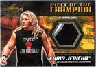 WWE Chris Jericho 3 Color 2001 Fleer Championship Clash Event Worn Shirt Card