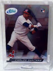 2010 ETOPPS IN HAND CARLOS SANTANA CLEVELAND INDIANS ROOKIE CARD /799