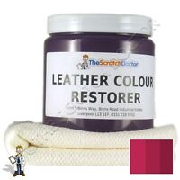 BORDEAUX Leather Dye Colour Restorer for Faded and Worn Leather Sofa etc.