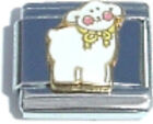 SHEEP LAMB FARM ANIMAL Enamel Italian Charm 9mm - 1 x AN104 Single Bracelet Link