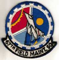 US Air Force 67 Field Maint SQUADRON Patch circa 1960s