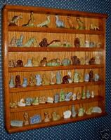 oak  wade figurines display case plexiglass front showcase  wades not included