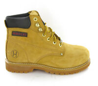 Mens Steel Toe Cap Honey Safety Work Leather Boots 11