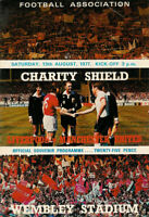 CHARITY SHIELD 1977 LIVERPOOL V MANCHESTER UNITED