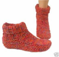 Knitwitz Country Slipper /Dorm Boot Knitting Pattern/Instructions to Make