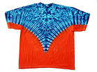 Tie Dye T-Shirt Adult Blue & Orange Yoke