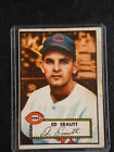 1952 TOPPS #171 ED ERAUTT CINCINNATI REDS RED BACK