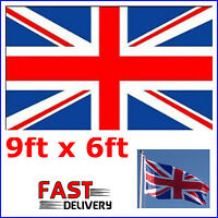Union Jack Giant Large Flag 6ftx9ft  (1.8x2.7)m Queens Diamond Jubilee Olympics