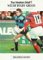 """Jonathan Davies, Wales WESTERN MAIL """"Welsh Rugby Greats Collection"""" Rugby Card"""