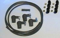 Ignition Lead Kit 4 Water Res Caps 2m Lead Suppres 6 Screw In Acorn & Washers