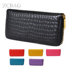 Stone Wrinkle Vintager Genuine Leather Womens Wallet Clutch Checkbook Purse Bag
