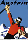 T48 Vintage Austria Skiing Austrian Winter Sports Travel Poster Re-Print A4