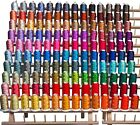 NEW 1100 yards 140 CONES MACHINE EMBROIDERY THREADS + RACK for BROTHER