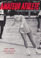 MARCH 1968 AMATEUR ATHLETE AAU USA olympic sports magazine PEGGY FLEMING