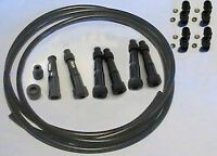 6 cyl Ignition Lead Kit Straight NGK Plug Caps 3m of HT Lead 8 Screw In Acorns
