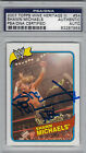 2007 Topps WWE WWF Heritage Shawn Michaels Signed Trading Card PSA/DNA Slabbed