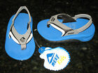 NEW REEF INFANT 3-4 KID'S SLAP II FLIP FLOPS BLUE WHITE GREY BLACK SO CUTE