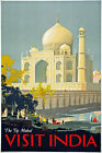 TX28 Vintage 1930's Taj Mahal India Indian Travel Tourism Poster Re-Print A4