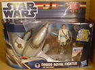 STAR WARS Clone NABOO ROYAL FIGHTER Vehicle Starfighter + Obi-Wan Kenobi MIB