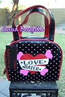 Addicted~LOVE HATER Tattoo Purse/Bag~Black/Red/Pink~Heart~Gothic/Rockabilly/Punk