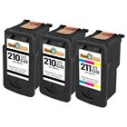 3 PACK PG210XL CL211XL Ink Cartridge for Canon PIXMA MP240 MP250 MP270 MP280
