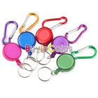 New Carabiner Retractable Reel Strap Belt Clip Key Chain
