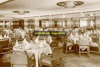 rp8656 - Cunard Liner Queen Mary - Tourist Dining Room - photo 6x4