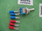 3pcs DPDT ON ON Heavy Duty Solderless Toggle Switch + Quick Connector,202T mh