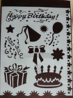Plastic/PVC/Coated/Paper/Stencil/Multi/Birthday/Cake//Bow/Gift/BalloonStar/NEW