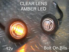 Button 12v Amber LED CLEAR Side Indicator light/Repeater/kit car westfield/dax