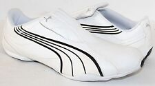 Puma Tergament 185533-01 White Leather Mens Athletic Shoes NWD Size 6 - 14