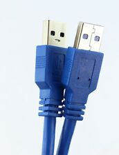 1m 2m 3m 5m BLUE USB 3.0 SUPERSPEED CABLE A to A Male Plugs A-A HDD Enclosures