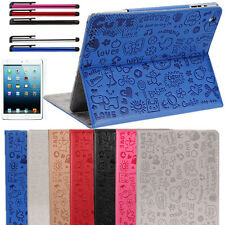 Cartoon Magnetic Smart Cover Leather Case WAKE/SLEEP Stand For Apple iPad 4 3 2
